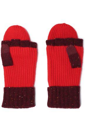 RAG & BONE Two-tone cashmere-blend fingerless gloves