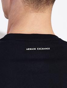 ARMANI EXCHANGE TESSELLATED LOGO CREWNECK TEE Logo T-shirt Man b