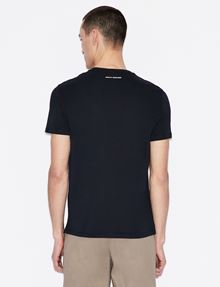 ARMANI EXCHANGE TESSELLATED LOGO CREWNECK TEE Logo T-shirt Man e