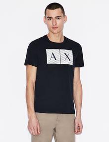 ARMANI EXCHANGE CAMISETA CON CUELLO A LA CAJA Y LOGOTIPO TESELADO Camiseta con logotipo Hombre f