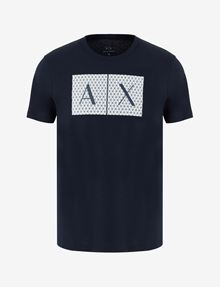 ARMANI EXCHANGE TESSELLATED LOGO CREWNECK TEE Logo T-shirt Man r