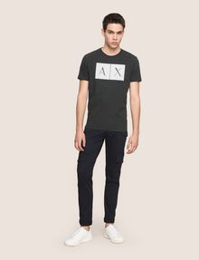 ARMANI EXCHANGE TESSELLATED LOGO CREWNECK TEE Logo T-shirt Man d