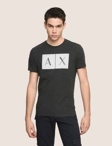 ARMANI EXCHANGE TESSELLATED LOGO CREWNECK TEE Logo T-shirt Man f