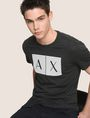 ARMANI EXCHANGE TESSELLATED LOGO CREWNECK TEE Logo T-shirt Man a