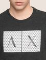 ARMANI EXCHANGE TESSELLATED LOGO CREWNECK TEE Logo T-shirt Man b