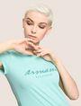 ARMANI EXCHANGE GLITTER SCRIPT TEE Logo T-shirt Woman a