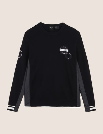 NYLON INSET PATCH SWEATER