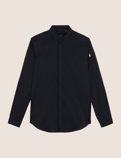 COVERED PLACKET UTILITY POCKET SHIRT