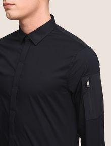 ARMANI EXCHANGE COVERED PLACKET UTILITY POCKET SHIRT Long sleeve shirt Man b
