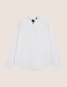 ARMANI EXCHANGE COVERED PLACKET UTILITY POCKET SHIRT Long-Sleeved Shirt Man r