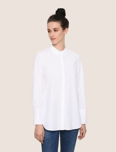KNOT-BACK BUTTON-DOWN SHIRT