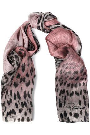 ROBERTO CAVALLI Frayed cashmere-gauze scarf