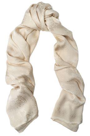ROBERTO CAVALLI Snake-effect silk scarf