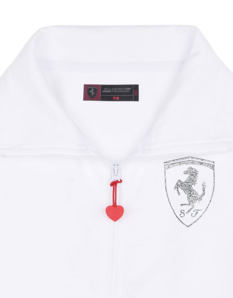 Scuderia Ferrari Online Store - Girls sweatshirt with high collar - Zip Sweaters