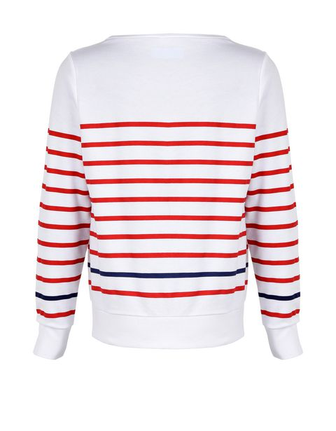 Striped sweatshirt for girls with rhinestones