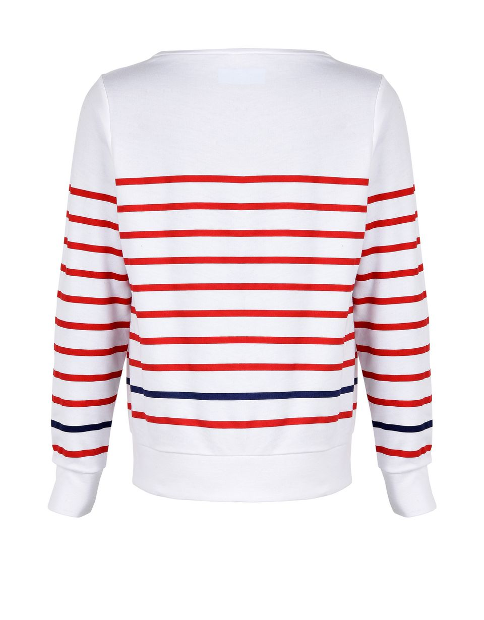 Scuderia Ferrari Online Store - Striped sweatshirt for girls with rhinestones -