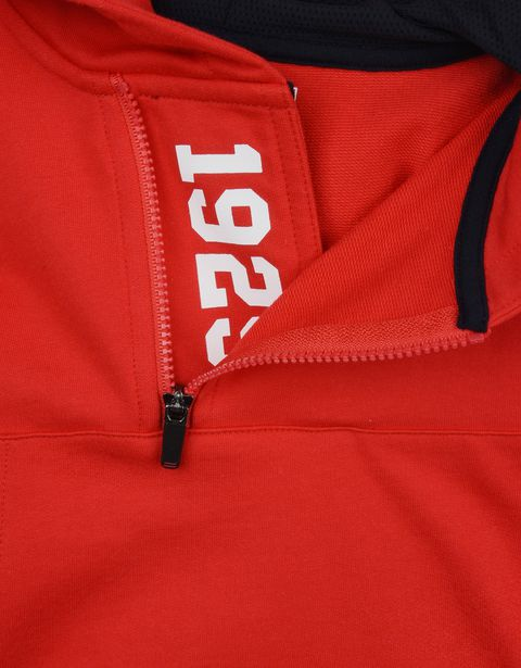Scuderia Ferrari Online Store - Red hooded sweatshirt for teens - Zip Hood Jumpers