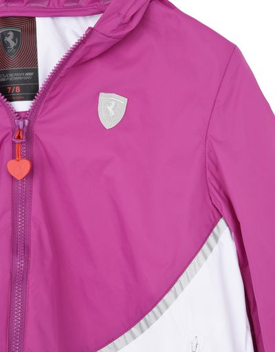 Scuderia Ferrari Online Store - Rain jacket for girls with gathering at the hips - Raincoats