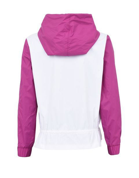Rain jacket for girls with gathering at the hips