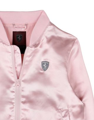 Scuderia Ferrari Online Store - Bomber jacket for girls with Shield at the left chest - Bombers & Track Jackets