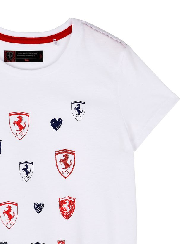 Scuderia Ferrari Online Store - Short-sleeve dress for girls - Short Dresses