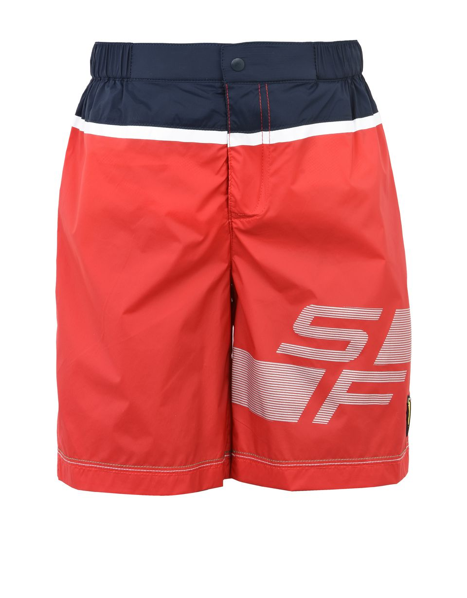 Scuderia Ferrari Online Store - Scuderia Ferrari swimming costume for teens - Swimming Shorts