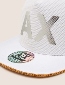 ARMANI EXCHANGE MESH REFLECTIVE LOGO HAT Hat [*** pickupInStoreShippingNotGuaranteed_info ***] d