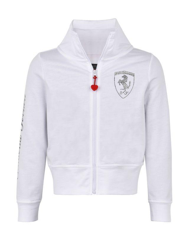Scuderia Ferrari Online Store - Толстовка для девочки с застёжкой-молнией и высоким воротником - Свитеры на молнии