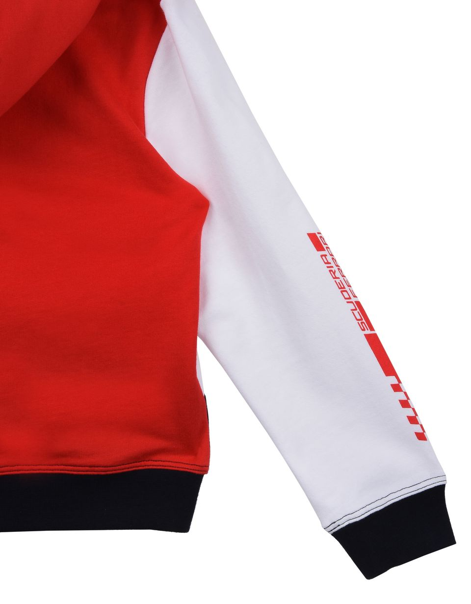 Scuderia Ferrari Online Store - Children's tricolor hooded sweatshirt - Hooded Sweaters