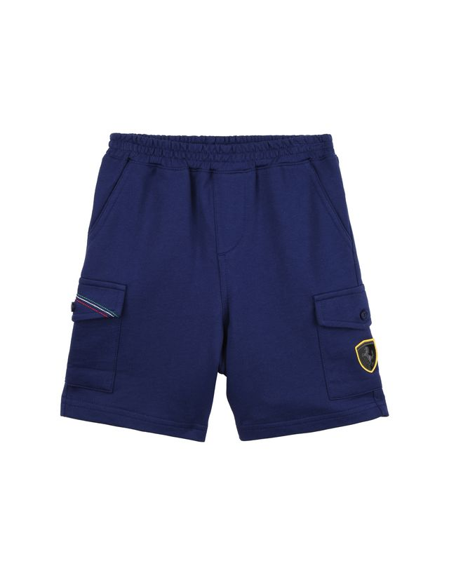 Scuderia Ferrari Online Store - Baby Bermuda shorts with faux zipper fly - Shorts