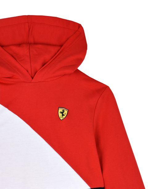 Scuderia Ferrari Online Store - Kids tricolour hooded sweatshirt - Hooded Jumpers