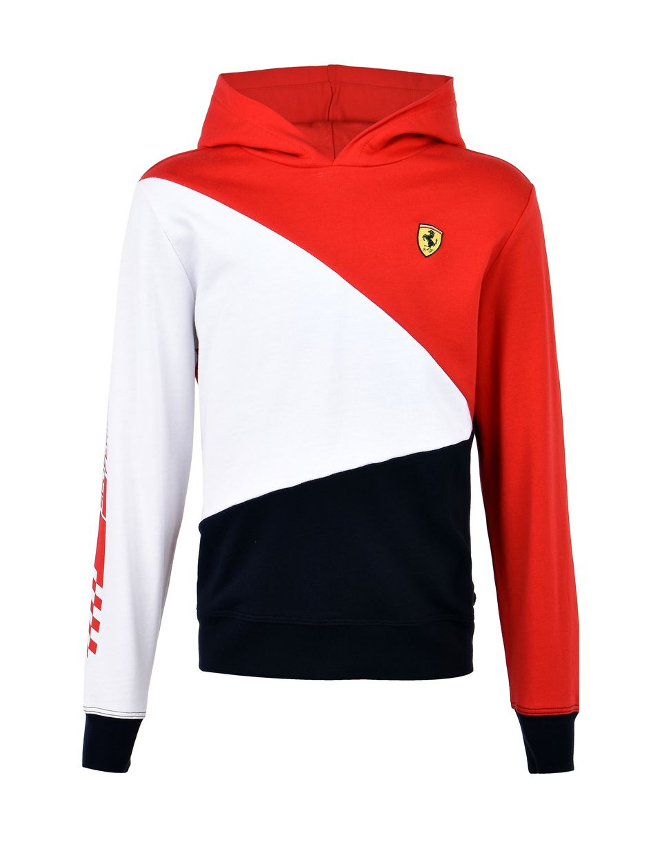 Scuderia Ferrari Online Store - Children's tricolor hooded sweatshirt -
