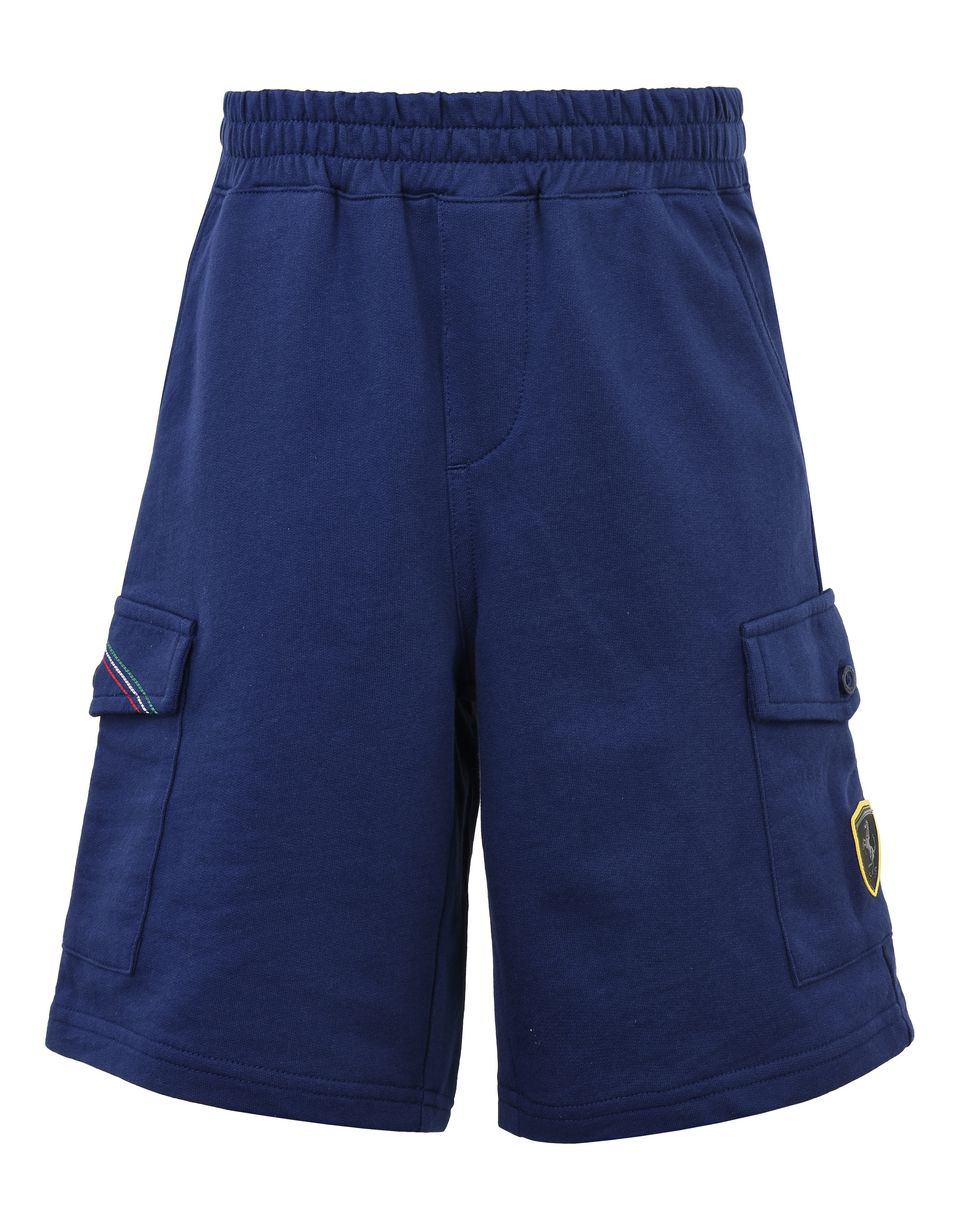 Scuderia Ferrari Online Store - Baby Bermuda shorts with faux zipper fly -