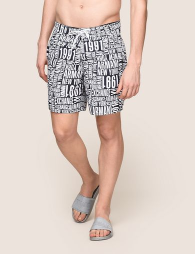 TYPOGRAPHY LOGO SWIM SHORTS