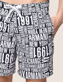 ARMANI EXCHANGE TYPOGRAPHY LOGO SWIM SHORTS Swim Man b