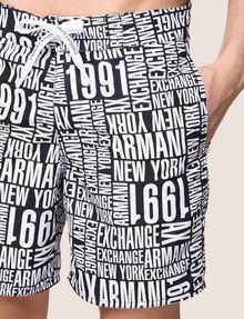ARMANI EXCHANGE タイポグラフィロゴ スイムショーツ スイムウェア メンズ b
