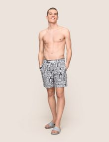 ARMANI EXCHANGE TYPOGRAPHY LOGO SWIM SHORTS Swim Man d