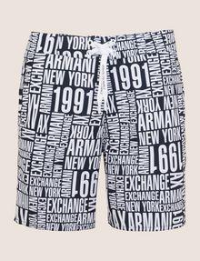 ARMANI EXCHANGE タイポグラフィロゴ スイムショーツ スイムウェア メンズ r