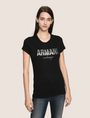 ARMANI EXCHANGE GLITTER SHOWER LOGO TEE Logo T-shirt Woman f