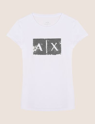 TWO-WAY SEQUIN LOGO TEE