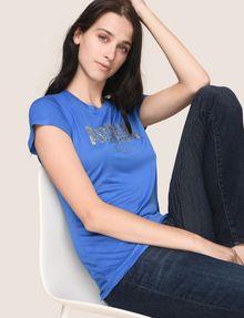 ARMANI EXCHANGE GLITTER SHOWER LOGO TEE Logo T-shirt Woman a
