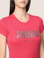 ARMANI EXCHANGE GLITTER SHOWER LOGO TEE Logo T-shirt Woman b