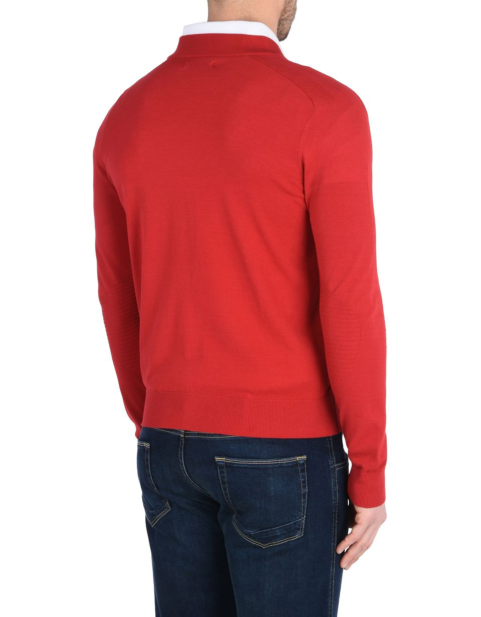 Scuderia Ferrari Online Store - Zip sweater in Italian cotton yarn - Zip Jumpers