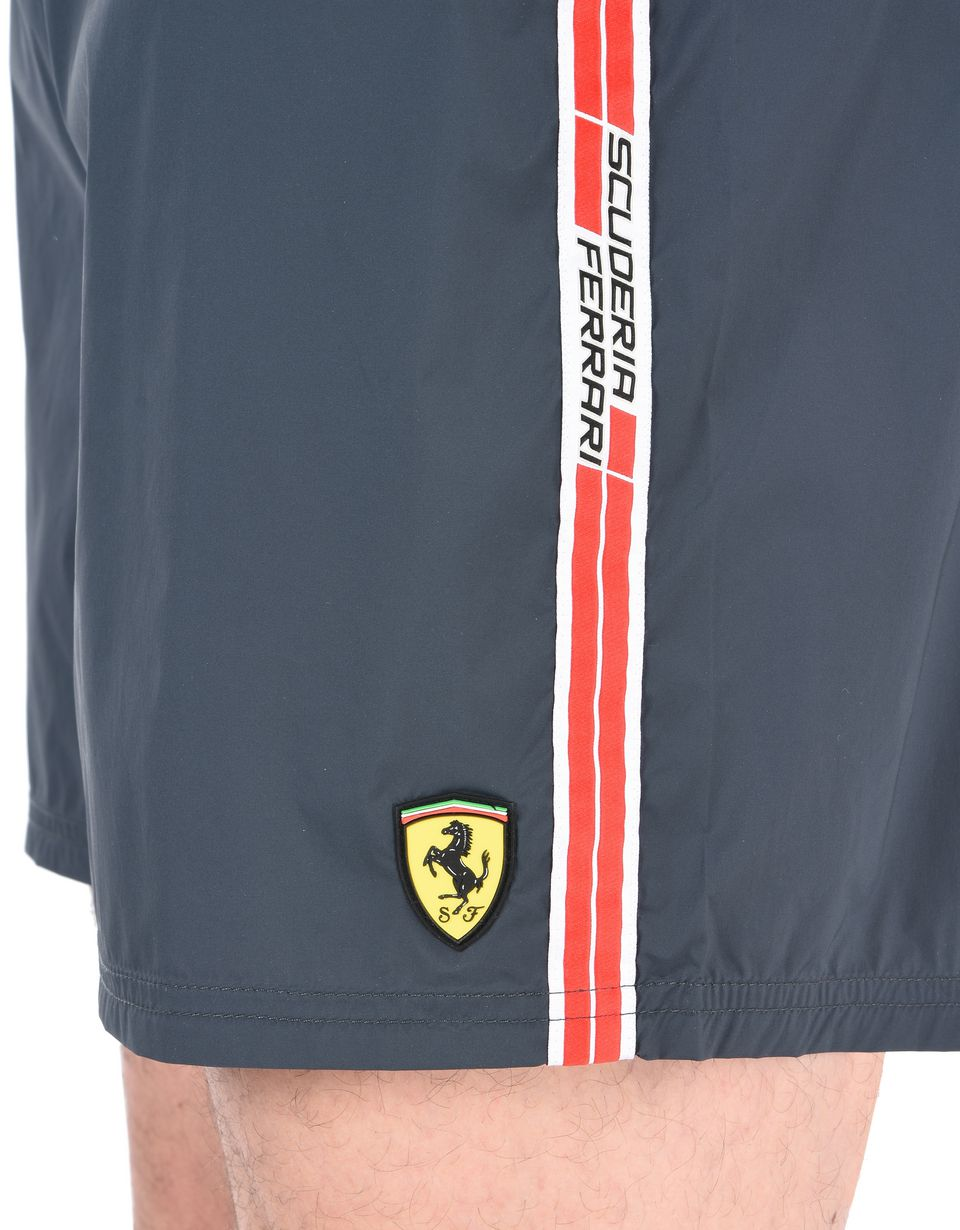 Scuderia Ferrari Online Store - Swimsuit with Scuderia Ferrari Icon Tape -