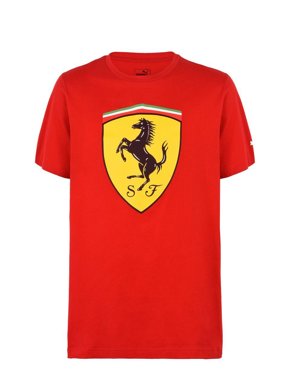 Scuderia Ferrari Online Store - Men's Scuderia Ferrari Shield T-shirt - Short Sleeve T-Shirts