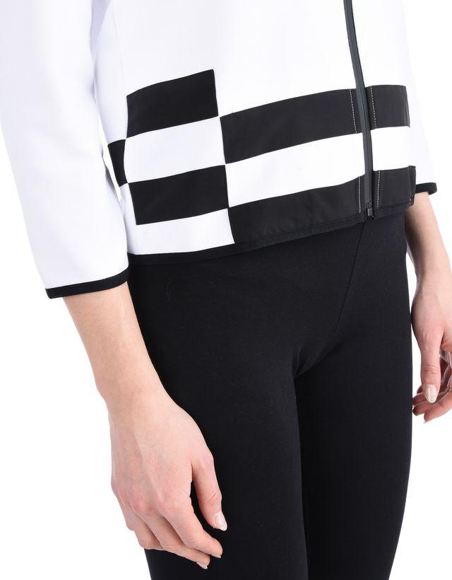 Scuderia Ferrari Online Store - 3/4 sleeve sweatshirt in scuba fabric - Zip Sweaters
