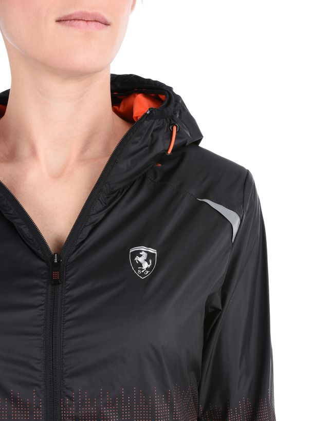 Scuderia Ferrari Online Store - Women's waterproof training jacket with Shield - Bombers & Track Jackets
