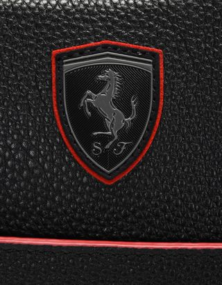 Scuderia Ferrari Online Store - Beauty case in pelle martellata - Beauty Case