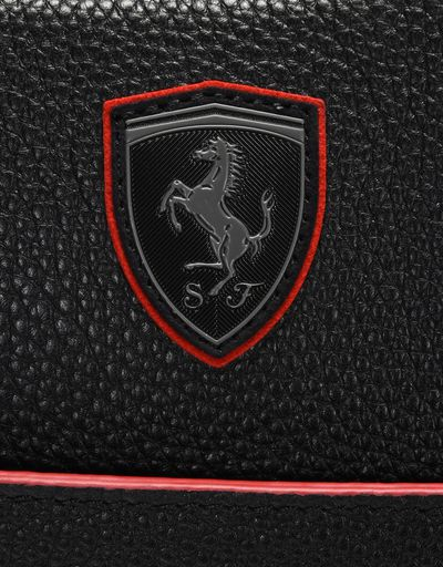 Scuderia Ferrari Online Store - Beauty case in hammered leather - Toiletry Bags