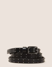 ARMANI EXCHANGE STUDDED SKINNY BELT Belt Woman f